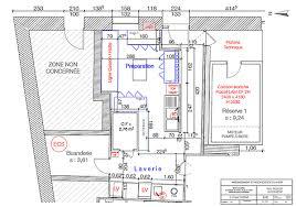 plan de cuisine professionnelle réhabilitation brasserie la jetée balaruclesbains