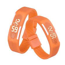 mens bracelet digital images Led sports watch for men and women jpg