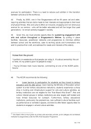 the report of the arts and culture strategic review
