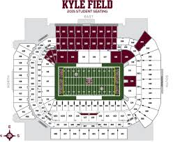 kyle map a m football kyle field seating chart interactive map