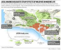 Channel Islands Map Are Southern California Wildfires A Threat To Local Marine Life