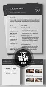 Best Designed Resumes 50 Best Minimal Resume Templates Design Graphic Design Junction