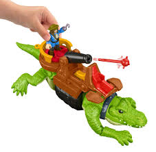 fisher price imaginext walking croc and pirate hook toys