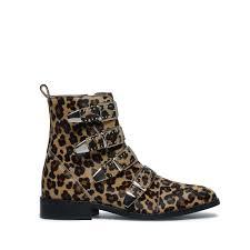 boucle d oreille leopard bottines à boucles imprimé léopard femmes 199 99 sacha be