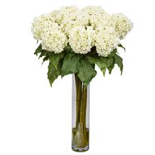 hydrangea white 31 in h white hydrangea silk flower arrangement 1221 wh the
