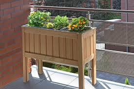 hochbeet balkon hochbeet 100x37 holz lärche kräuterbeet gemüsebeet 3x