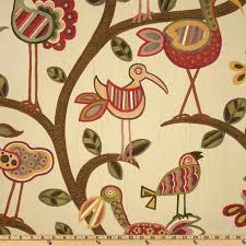 Upholstery Fabric With Birds Swavelle Mill Creek Crazy Ol U0027 Bird Jacquard Sunrise Discount