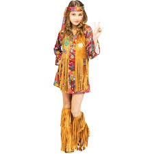 halloween custumes for girls amazon com peace u0026 love hippie kids costume toys u0026 games