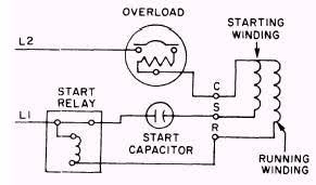 capacitor start run motor connection diagram in starting wiring