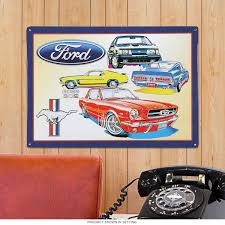 ford mustang home decor rod and muscle car tin signs clocks and more retroplanet com