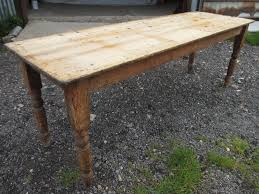 Victorian Long Narrow Plank Top Pine Kitchen Refectory Dining - Victorian pine kitchen table