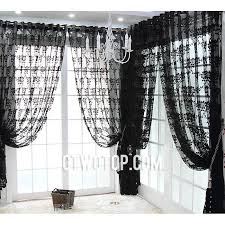 shabby chic unique black modern floral patterned sheer curtains