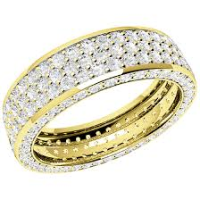 gold eternity rings eternity ring diamond set wedding ring for women in 18ct
