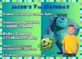 monster invitation free printable kids birthday party invitations template drevio
