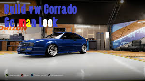volkswagen corrado tuning forza horizon 2 build vw corrado vr6 german look youtube