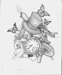 alice wonderland tattoo idea concept necessarily
