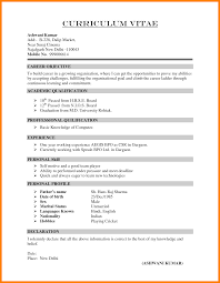 Professional Curriculum Vitae Samples Declaration In Resume Sample Resume For Your Job Application