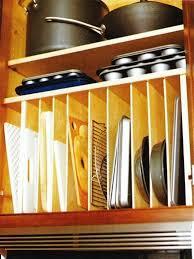 cookie sheet cabinet divider 46 best storage ideas images on pinterest kitchen organization