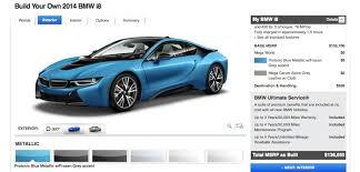 bmw build your car bmw i8 build your own usa