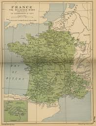 French Map Of France The Religious Wars 1562 1598