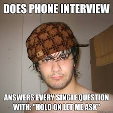 Meme Telephone - does phone interview answers every single question with hold on