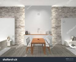 Dining Room Interior Modern Dining Room 3d Rendering Stock Illustration