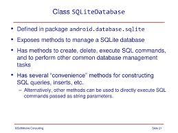 android sql data storage part 3 sqlite ppt