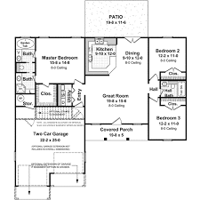 3 Bedroom 2 Bath 1 Story House Plans by Ranch Style House Plans Results Page 1