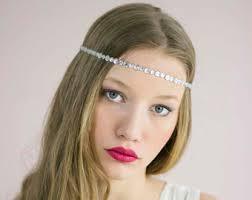 headbands that go across your forehead forehead headband etsy