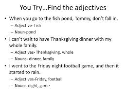 parts of speech part 1 nouns pronouns adjectives ppt