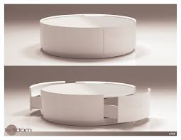 contemporary round coffee table modern round white coffee table oval glass and iron cool modern