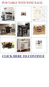 pub table with wine rack with wine rack pub table with wine
