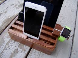 Smartphone Charging Station Review Stylish Wooden Charging Dock Juices All Your Gear