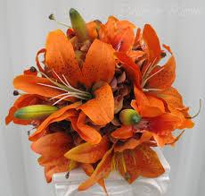 silk bridal bouquet tiger wedding bouquet silk bridal bouquet in bloom