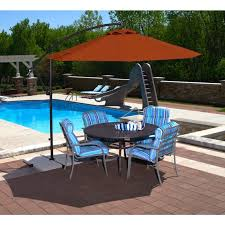 swimming pool table set with umbrella outdoor and patio burnt orange outdoor cantilever umbrella with
