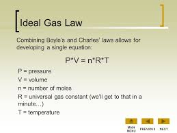 ideal gas law p v n r t