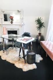 Black White Desk by Black And White Office Decor Home Furniture And Design Ideas