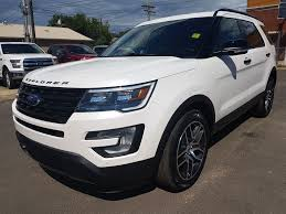 Ford Explorer White - new 2017 ford explorer sport 4 door sport utility in edmonton ab