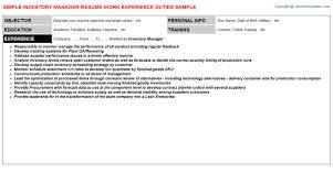 Postal Clerk Resume Sample by Inventory Manager Job Title Docs
