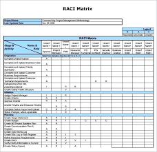 Raci Chart Template Excel Final Raci Chart Template Excel Free Rasci Matrix Template
