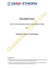guidelines for the design and construction of health care