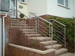 Outdoor Metal Handrails Exterior Handrail Iron Stair Railings Exterior Metal Handrails