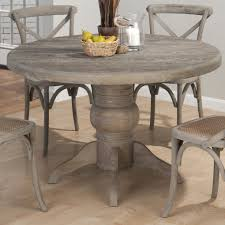 burnt grey round solid oak table by jofran nautical den