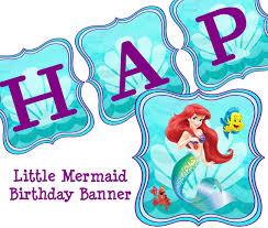 little mermaid happy birthday clip art clip art decoration