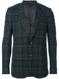 plaid en cachemire chemise paul smith paul smith blazer classique en cachemire homme