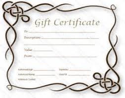 gift certificate template free tattoo resume example language skills