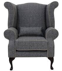 chesterfield edward wool tweed wing chair designersofas4u