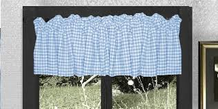Blue And White Gingham Curtains Blue Gingham Kitchen Café Curtain Unlined Or With White Or