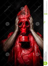 military concept man with red gas mask stock images image