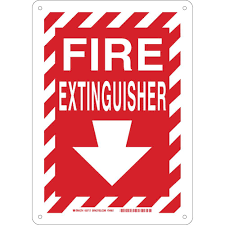 Fire Extinguisher Symbol Floor Plan by Brady 14 In X 10 In Plastic Fire Extinguisher With Arrow Safety